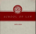 Bulletin 1955-1956 School of Law