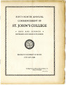 Commencement Program - St. John's College of Liberal Arts and Sciences, Teachers College, and...