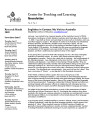 Center for Teaching and Learning Newsletter