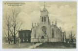 Postcard with a view of St. Vincent's Catholic Church, Cape Girardeau, Missouri