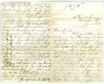 Letter from John W. Moore to his mother, Mrs. William Moore