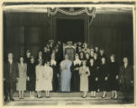 Photograph of Notre Dame College students in Rome with Pope Pius XII