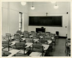 Photograph of a classroom at Schermerhorn Street Campus DePaul Building