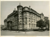 Photograph of the Seminary wing of St. John's College, at the corner of Lewis Avenue and...