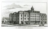 Photograph of St. John's College, at the corner of Lewis Avenue and Hart Street