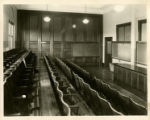 Photograph of a lecture and demonstration classroom at the Lewis Avenue campus