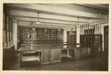 Postcard showing the St. John's College - High School physics classroom of the Moore Memorial...