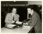 Photograph of employees of the St. John's College Lewis Avenue campus administration offices...